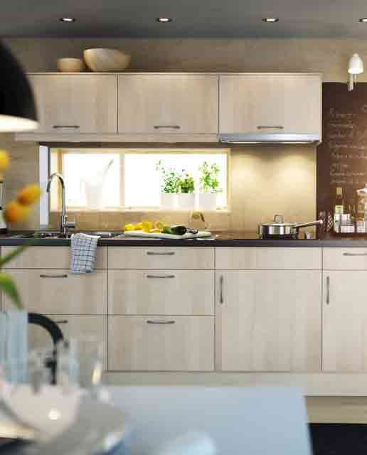 Modern Kitchen Designs for Small Spaces : Small Kitchen With A Framed Window1