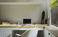 Designing Small Space Studio Apartments : Small Space Studio Apartment Design 9 Desk Chair Hanging Shelf Cabinet Ideas