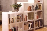 Inspiration Ideas To Save Space For Tiny Room : Smart Storage Decoration Ideas To Save Space With A Traditional Bookcase Decor And Open Shelves Interior With Vases And Laminated Floor Design