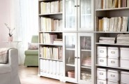 Inspiration Ideas To Save Space For Tiny Room : Smart Storage Decoration To Save The Space With A Traditional Bookcase And Open Shelves Interior Different Material Dressers Style And Sideboards And Baskets 27