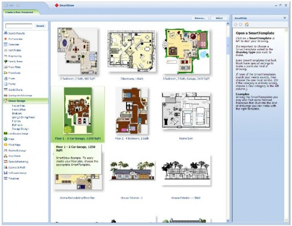 Best Free Online Virtual Programs For Planning And Designing Home : SmartDraw Is A Suite Programs For Visual Graphics And Presentations Floor Plans
