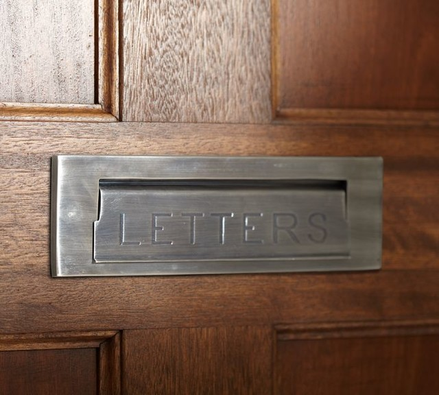 Miscellaneous Fence Mounted Mailbox : Stella Mail Slot Antique Silver Finish His Mail Slot Features A Hinged Flap Embossed With The Word Letters