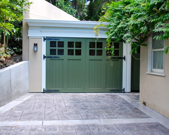 Splendid Swing Out Garage Door: Stunning Contemporary Garage And Shed Swing Out Garage Door With Windows Adds To More Light In Garage A Wider Front Door With A Wider Walkway Will Make The House Look Larger