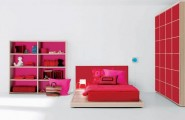 Modern Bedroom Decoration For Teenage Girls Ideas : Stunning Red Scheme Bedroom Furnitures In Bright Teenage Girl Bedroom Design Ideas