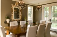 Beautiful Slip Covers For Dining Chairs : Stunning Traditional Dining Room Slip Covers For Dining Chairs Monogrammed Chairs In A Muslin Linen Look Dark Wood Dining Table