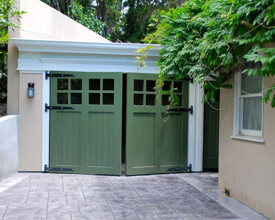 Splendid Swing Out Garage Door : Surprising Traditional Garage And Shed Swing Out Garage Door Style Without The Windows Nice Doors And Strap Hinges Out Swing Carriage Garage