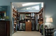Modern Classic Design Closet For Your Storage Need : Terrific Modern Closet System Designs With Blue Color Scheme Wooden Brown Closet Walk In Closet