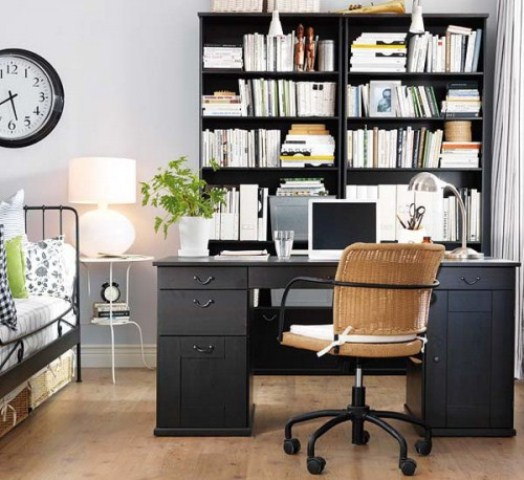 Marvellous Smart Space For Home Office Design: Terrific Modern Thoughtful Home Office Storage Solution Ideas With Ultimate In Stylish Versatile Organization Office Interior
