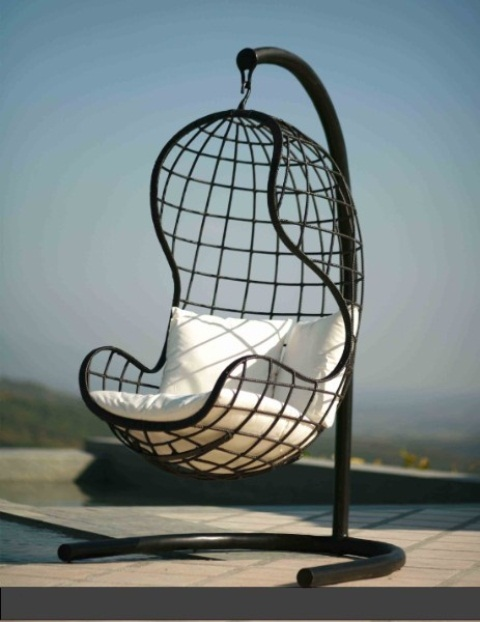 Rattan Outdoor Hanging Chairs Models That Can Be Put Outside or Inside: Terrific Outdoor Hanging Chairs With Fantasizing About Sitting In This Amazingly Comfy Chair And Cozy To Nap In