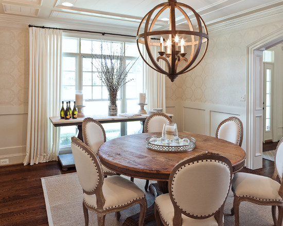 Marvelous Dining Tables Set And Chairs: The Dining Room Table And Chairs At Transitional Dining Room