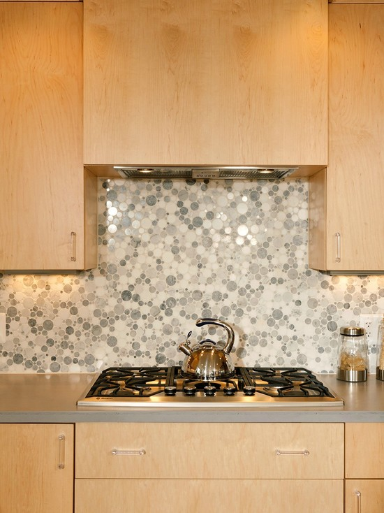 Excellent Kitchen Design With Recessed Lights : The Functional Island In Natural Maple Cabinets And Carrara Marble Tainless Steel Microwave Drawer