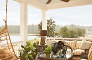 Awesome Blue Crab Decorations : The Hermit Crab Decor On The Table At Traditional Porch