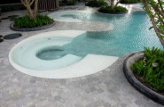 Astonishing Hotel with Great View : The Hilton Swimming Area Landscaping Inspiration
