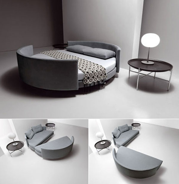 The Most Extreme Modern Beds: The Scoop Is Most Extreme Bed Design That Combining The Sofa Function With The Bed Function
