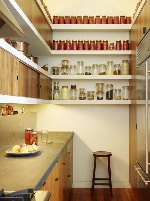 Modern Kitchen Designs for Small Spaces: Tiny Kitchen With Vertical Storage1
