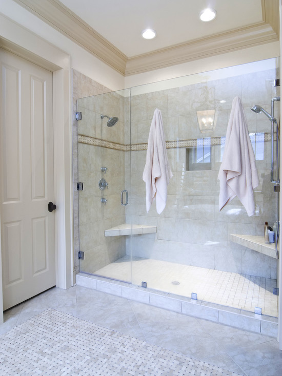 Various Dual Shower Designs: Traditional Bathroom Double Shower Unattractive Shower Necessities Around The Bathroom