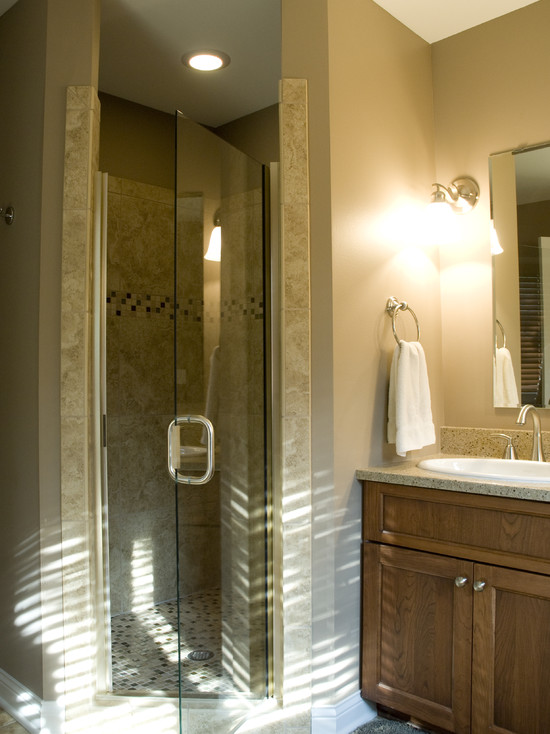 Terrific Frameless And Glass Corner Shower Doors Traditional Bathroom Idea For Master Bath With