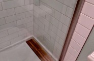 4×12 Subway Tile Designs : Traditional Bathroom With Wonderful Shower 4x12 White Subway Tile