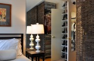 Free Standing Closet For Various Functions : Traditional Closet Space In The Bedroom Freestanding Storage Units With Twig Curtains