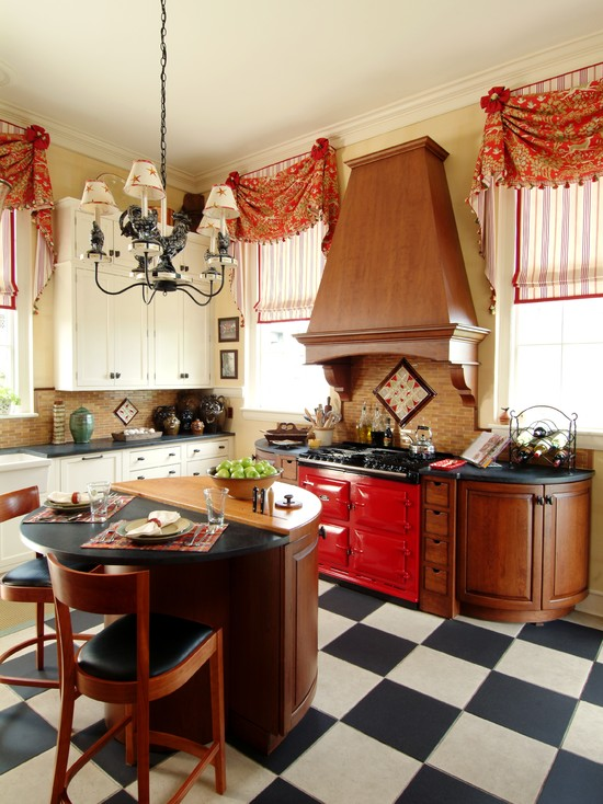 Beautiful Short Kitchen Curtain Designs : Traditional Curtains For Natalies Kitchen Short Drapes