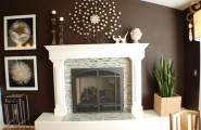 Elegance Dark Brown Paint Colors : Traditional Dining Room Dark Brown Paint Colors Wall White Trim And Accessories On This Beautiful Accent Wall