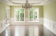 All Kinds Pictures of Dining Rooms With Wainscoting : Traditional Dining Room Good Wainscoting Big Windows And Great Wall Color High Base Moulding Plus Chandelier