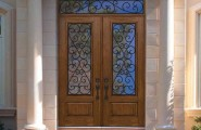 Excellent Fiberglass Front Doors With Glass And Hardwood : Traditional Entry Double Door 96 Premium Fiberglass Palermo Mold Using Nickel Vapor Deposition Technology Authentic And Realistic Wood Grains