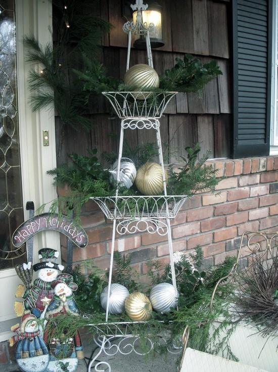 Wonderful Pictures Of Victorian Christmas: Traditional Exterior Christmas Decorations On Shed Deck For Plant Stands Additional Christmas Spirit ~ stevenwardhair.com Classic Home Design Inspiration
