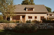 Fascinating River Rock Landscaping Pictures : Traditional Exterior River Rock Garden Wall