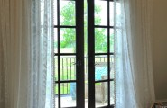 Charming French Door Curtain Rod Designs : Traditional Kids Master Deck Door And Sheer Curtains And French Door Curtain Rod