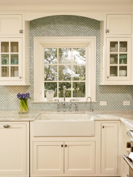 Exciting Farm Sink With Delta Bridge Faucet: Traditional Kitchen Dickinson Apron Front Under Mount Single Bowl Kitchen Sink With 4 Oversize Faucet Holes ~ stevenwardhair.com Cabinets Inspiration