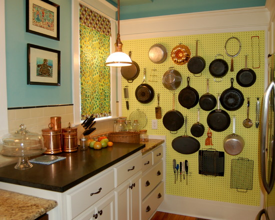 Pegboard For Craft Room: Traditional Kitchen Great Idea For A Pantry Wall Cool Pegboard Wall Storage And Pot Pans ~ stevenwardhair.com Furniture Inspiration