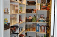 Functional Kitchen With Slide Out Wire Baskets : Traditional Kitchen Pull Out Shelves In Pantry Wire Baskets
