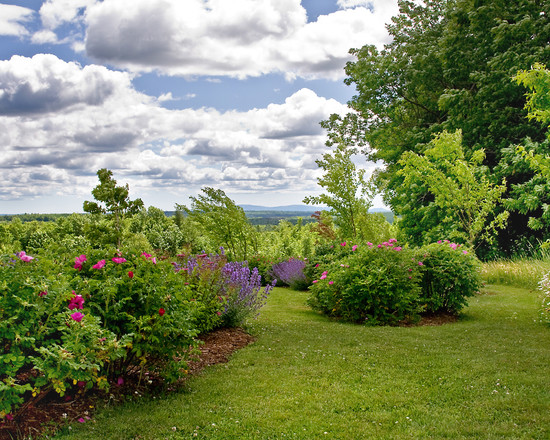 Enchanting Border Edging Landscaping Ideas: Traditional Landscape Overlook Stunning Panoramic Regional Views New Plantings Define Edges And Thresholds
