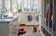 Best Lighting For Laundry Room : Traditional Mudroom Laundry Idea With Interesting Laundry Room Lighting Fixtures