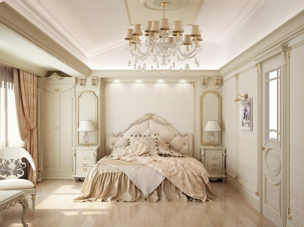 Natural Colorful Bedroom Interiors Ideas For Young People: Traditional Natural Interior Bedroom Ideas For Young People Neutral Color Palettes Classic Chandelier Beautiful Pendant Nice Ceiling Diig