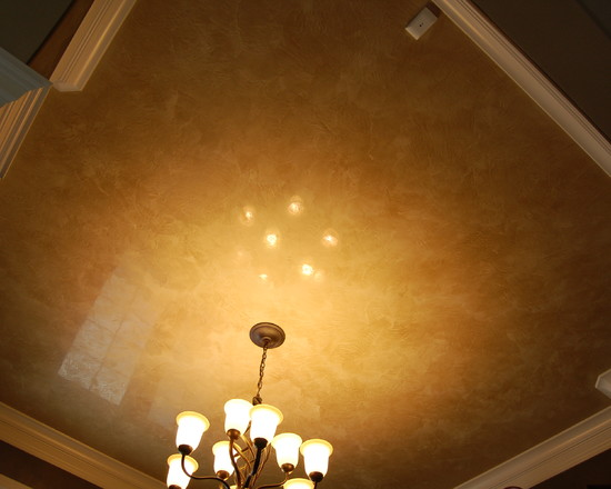 How To Plaster Ceilings Of Your Home : Traditional Venetian Plaster Ceiling With Polished Etian Plaster