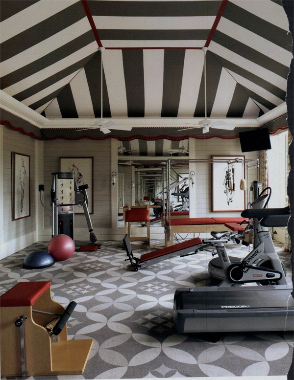 Transform A Space Room Into Inspiring Stylish Gym: Transform A Space Room Into Inspiring Stylish A Mini Gym With A Full Length Mirror On One Of The Walls That Gives You Feeling Of Roominess Plus You Can Keep A Check Body
