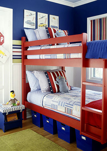 Cool Ways To Decorate A Room: Transport Themed Shared Boys Bedroom