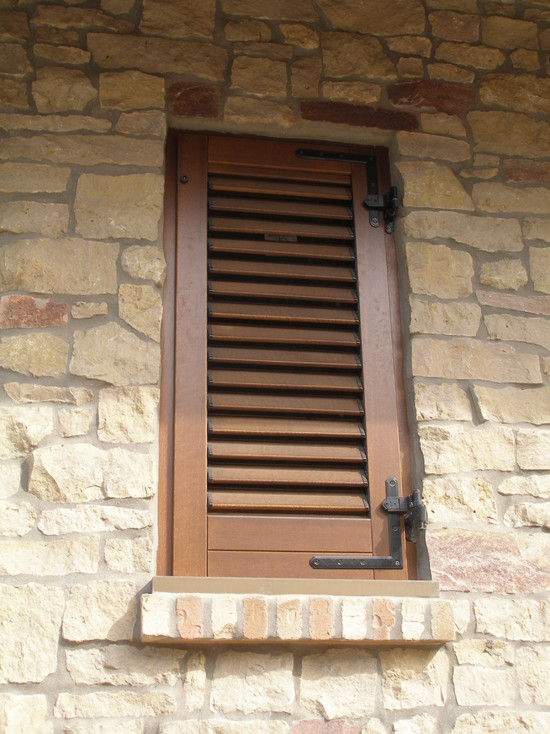 Enchanting Tuscan Window Shutters: Tuscan House Mediterranean Exterior America Italiana Wood Exterior Shutter Tuscan Windows