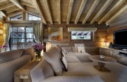 Breathtaking Cozy Resort For Your Family Holiday : TV Cabinet White Cushions Wooden Oval Table Painting Wooden Wall