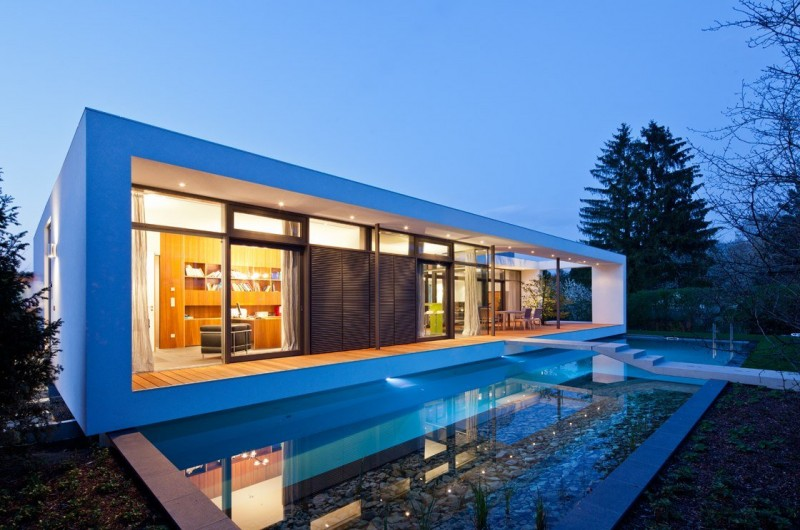 Simple And Small Inspiration House Design : Unique Home Design Simple Swimming Pool Fresh Outside View Clean House Painting