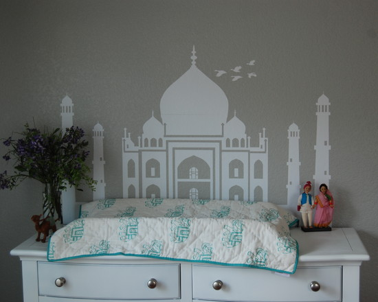 Interesting Unisex Baby Room Themes: Unisex World Explorer Themed Nursery With Mosque Wallpaper ~ stevenwardhair.com Design & Decorating Inspiration