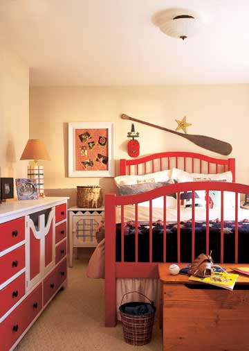 Cool Ways To Decorate A Room: Universal Boy Bedroom Red Themed