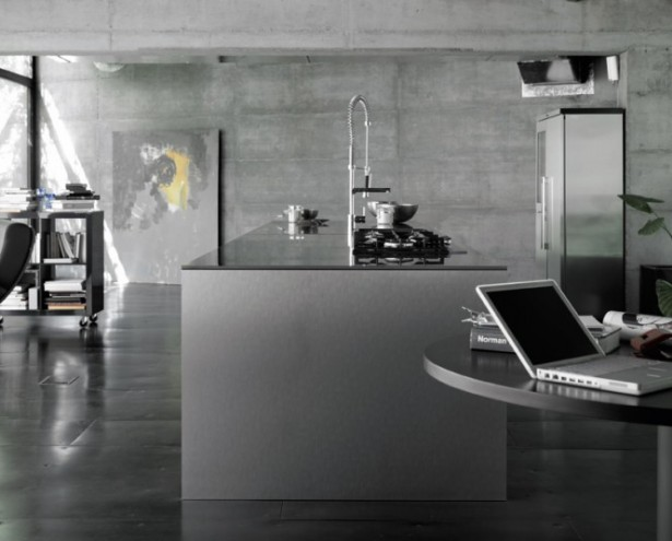 Magnificent Collection of Modern and Tradional Kitchen Design for You: Untreated Wall Kitchen Cabinet Open Kitchen Laptop Book Rack ~ stevenwardhair.com Kitchen Designs Inspiration