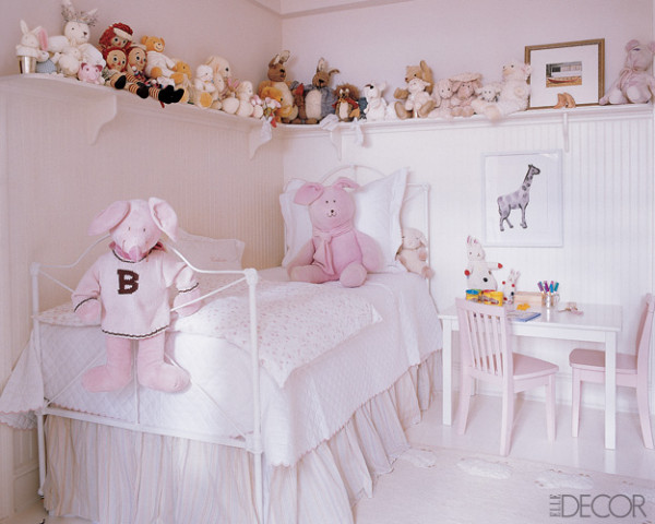 Perfect Colored Bedroom Decorating Ideas For Girls Who Love To Read: Very White Color Arrangements Bedroom Decorating Ideas For Girls Cozy Neutral Pinky Little Bed With Hanging Cabinet And Study Table With Alot Toys