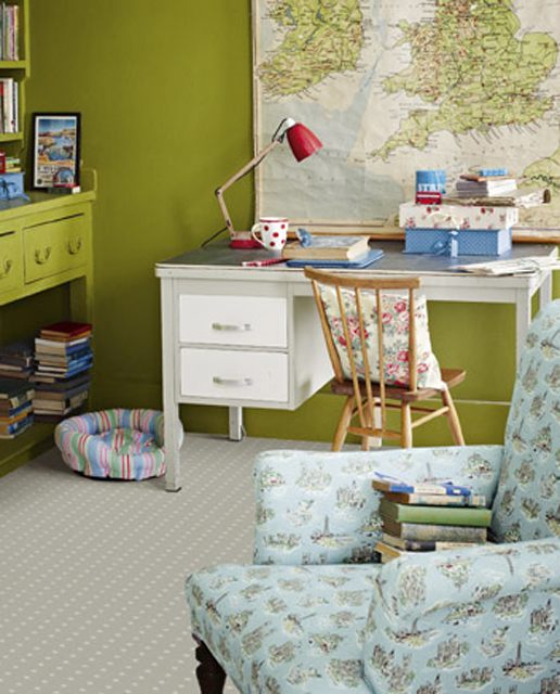 Cool Ways To Decorate A Room: Vintage Boys Room Car Green Themed