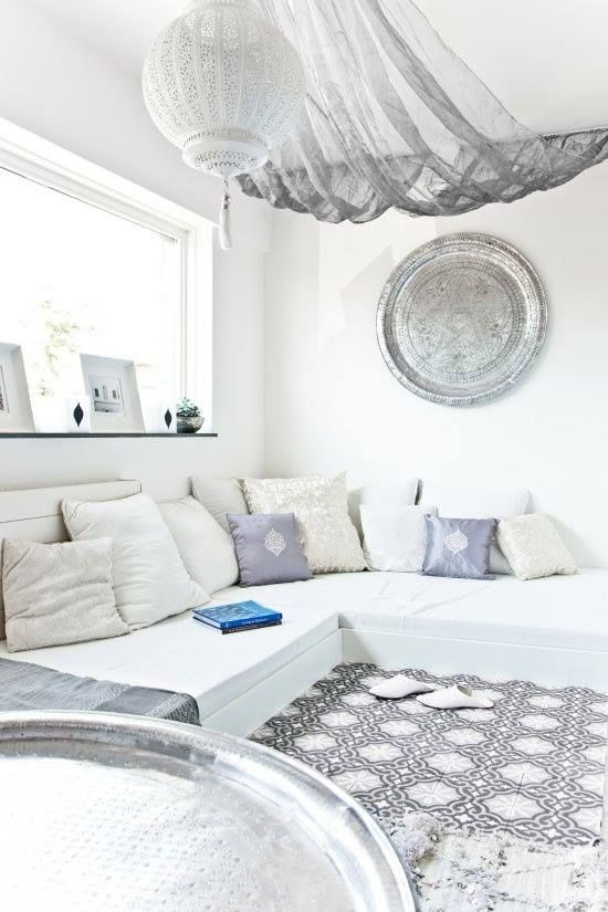 Vivid Color Ideas And Smart Living Room Design Ideas For Couples: Vivid Color Ideas And Smart Living Room Design Ideas For Couples With White Custom Sofa In A Geometric Chenille With Remarkable Pillows Inice Pendant Wall Decor ~ stevenwardhair.com Bookshelves Inspiration