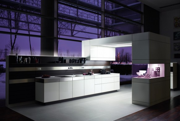 Purple Kitchen Idea to Display Elegance in Your Kitchen : Washbasin Faucet Kitchen Cabinet White Kitchen Floor Kitchen Appliances