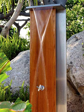 Pictures Of Inspiring Outdoor Shower Design Ideas: Waterfall Shower Design By Jane Hamley Wells